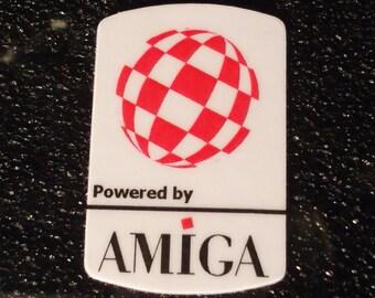 Commodore Amiga Label / Aufkleber / Sticker / Badge / Logo 1,9cm x 2,8cm [303]