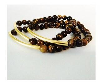 Tiger Eye Stackable Bracelets