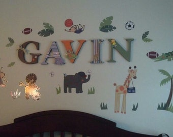 Custom Wooden Nursery Letters