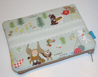 Padded Zippered Pouch Kawaii Fairytales / (Camera Case / Cosmetic Bag /  Phone Case Protector / Card Holder / Coin Purse / Bag Organizer