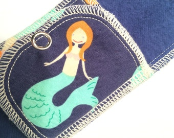 Organic Mini Pantyliner Moonpads Cotton Cloth Pads - Mermaid