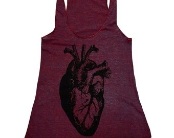 Anatomical Heart Tank Top - Tri-Blend Tank - Available in sizes (S, M, L, XL)