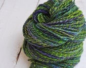 Handspun BFL Wool Yarn - DK Weight Two Ply - Dappled Woods - 192 Yards