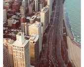 Chicago Photography - City Photograph - Tiny Cars 2 - Original Fine Art Photograph - Chicago Art - Architecture - Abstract  - Oversized Art