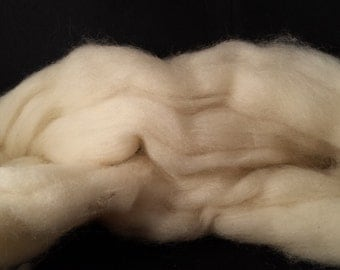 Yak combed top roving 100% to spin Creamy White luxury fiber 2 ounces
