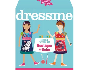 Boutique/ Boho girls dress pattern Set - pdf sewing pattern Sizes 6+–14