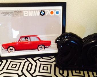One of a Kind 9.5 x 12 Retro BMW Framed Print Art