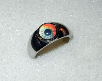 Zombie Eye Ring - Walking Dead Fan -  Silver Plated Ring
