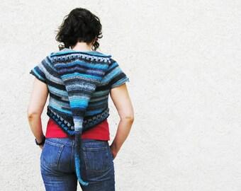 Bertille hooded bolero - Pdf crochet pattern - Summer festival, elf hood - Size XS to XL