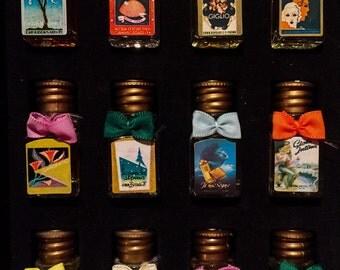 Vintage MINIATURE PERFUMES COLLECTION Borsari Italy Fragranze Italiane da Collezione