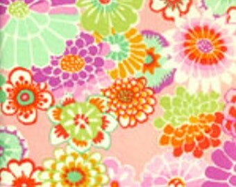 ASIAN CIRCLES in Pink,1/2 yard GP89 Kaffe Fassett Fabric Classic Collection, Westminster Fiber Cotton Quilt Fabric