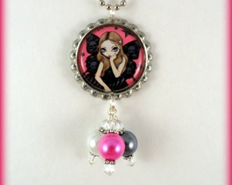 "Jasmine Becket Griffith  "" Skulls and Stars ""  necklace"