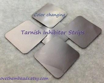 tarnish prevention, Intercept Anti-Tarnish Tabs, prevent tarnish - keep silver clean, protect jewelry - oxidation inhibitor, color chainging