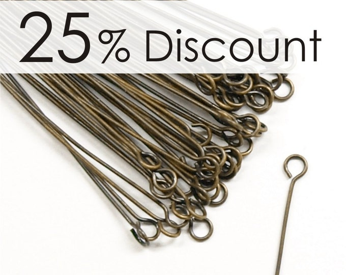 EPBAB-5024 - Eye Pin, 2 in/24 ga, Antique Brass - 500 Pieces (10pk)