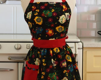 Apron Retro Spanish Style Piggy Banks CHLOE Full Apron