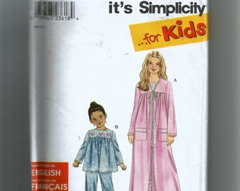 Simplicity Girls' Sleepwear Pattern 9020