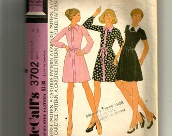 McCall's Misses' Dress Pattern 3702