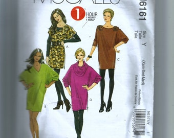 McCall's Misses' Dresses and Cowl Pattern M6161