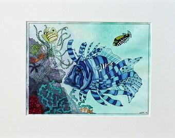 Lion Fish - Original Drawing