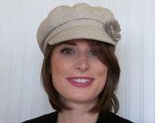 Linen Newsboy Hat - Womens Linen Hat - Womens Hats - Womens Newsboy Cap - Womens Caps -Summer Hat