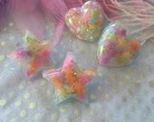 Hearts or Stars Candy Stud Earrings