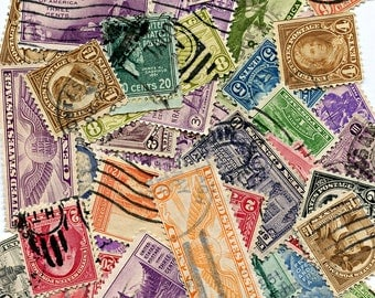 Lot OLD US Postage Stamps Lot (50) Colorful Vintage Antique Early Usa Postal MORE AVAlLABLE 1164