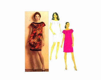 Misses Semi Fitted Dress Butterick 5210 Sewing Pattern Size 6 - 8 - 10 - 12 Bust 30 1/2 - 31 1/2 - 32 1/2 - 34 UNCUT