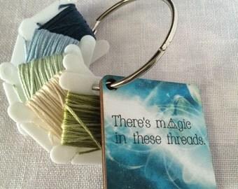 MAGIC THREADS dmc bobbin organizer floss holder decorative thread ring