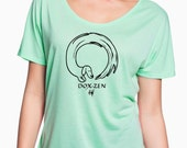 Dox-Zen Go with the Flow Slouchy Tee for Dachshund Lovers