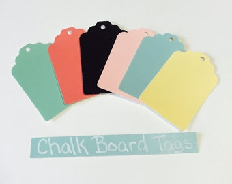 Small Bakers Dozen Color Chalkboard Hang Tags
