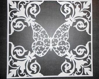 Butterfly Lacy svg Window