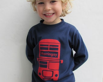 London Bus T-shirt Personalised with your name