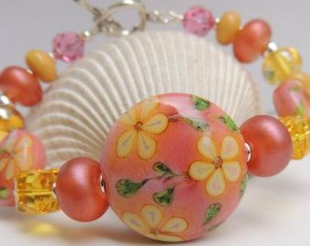 ROSEMARY Handmade Lampwork Bead Bracelet