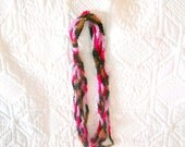 Crocheted Scarf - Summer Scarf - Multicolored Scarf - Birthday Present