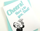 Fathers Day Card. Cheers. Card for Dad. Blank Inside