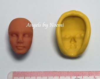 Art Doll Girl's Face 2 Mold Silicon hand made OGLD