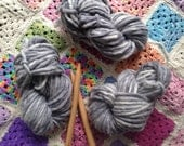 super chunky 20 or 30ply hand dyed yarn STORMY SKIES.