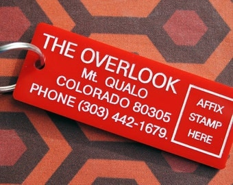 Stanley Kubrick's The Shining inspired The Overlook Hotel keychain key fob room key