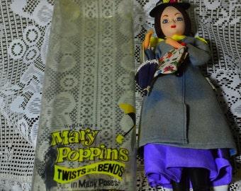 Rare Mary Poppins Cloth Poseable Doll J. Swedlin 1962