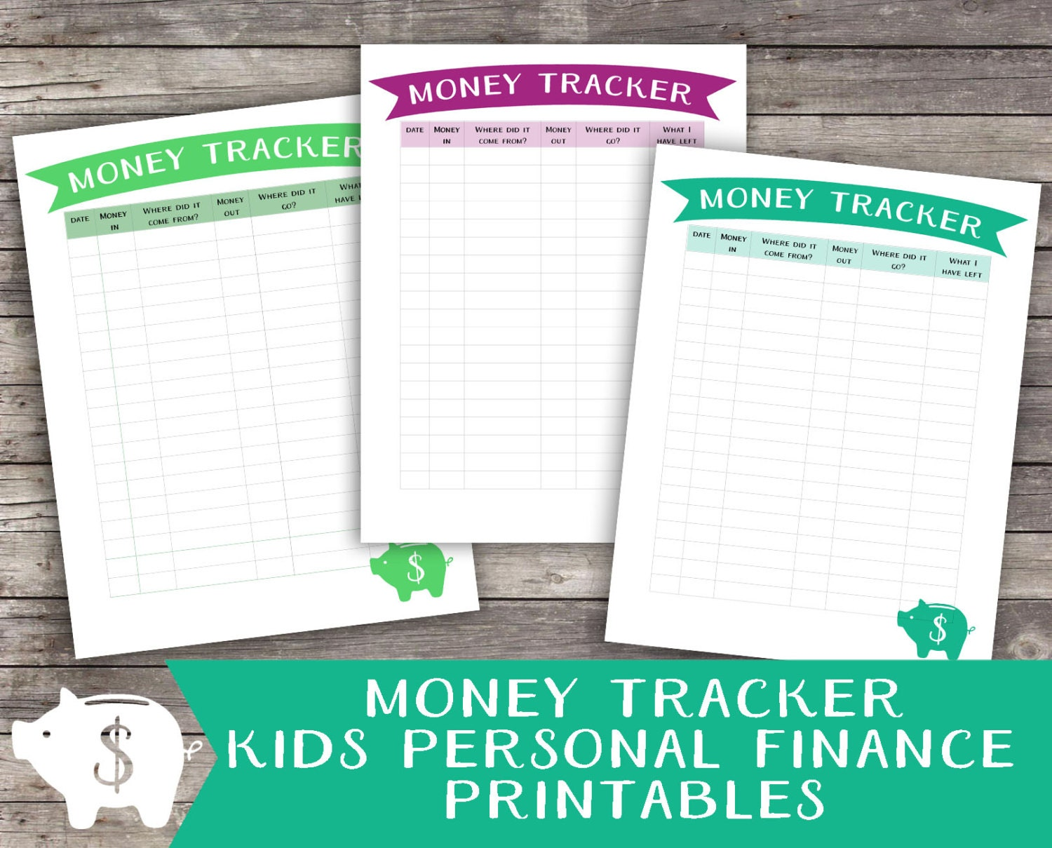 This is a graphic of Rare Money Tracker Printable