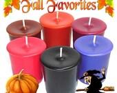 6 Fall Favorites Votive Candles Assortment Autumn Scents