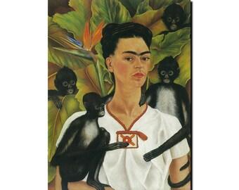 Frida with Monkeys refrigerator Magnet