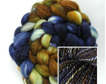 Wit Beyond Measure - Hand Dyed Roving - Spinning Fiber - BFL - Falkland - Shetland - Targhee- Cheviot - Dyed to Order