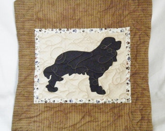 Cavalier King Charles Spaniel - Quilted Dog throw pillow 16 inches