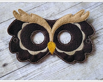Owl Mask Woodland Creatures Stocking Stuffers Party Favors Halloween Mask Easter Basket Pretend Play Creative Play Masks