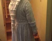 White Upcycled Sweater Coat