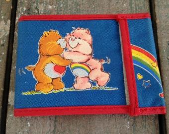 Vintage care bears dark blue wallet