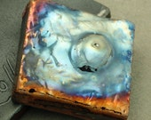 Raku Abstract Cabochon