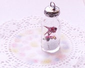 "TWO Fireflies in Soldered Vial Necklace Message in a Bottle ""Light My Path"""