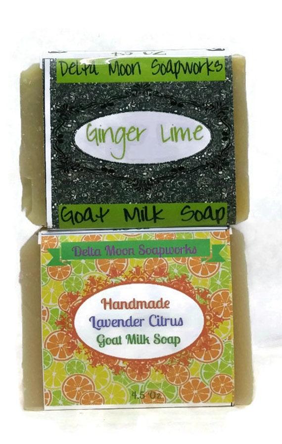 Goat Milk Soap, Lime Blends, citrus soap ,Lavender, olive oil , Avocado Soap, Mild Handmade Soap,  goat's milk, ginger Lime, lavender citrus